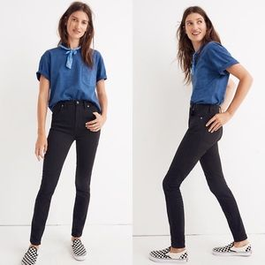 """MADEWELL 10"""" High-Rise Skinny Jeans Johnny Wash"""